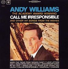 The Academy Award Winning Call Me Irresponsible And Other Hit Songs From The Movies